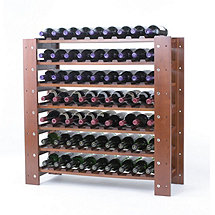 Swedish 63 Bottle Wine Rack (Walnut)