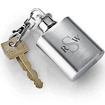 Monogrammed Keychain Flask