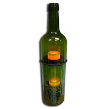Recycled Wine Bottle Tealight Holder