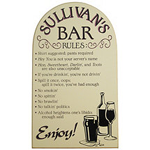 Personalized Bar Rules Sign