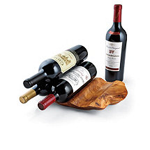 Enrico Root Wood Wine Holder