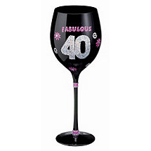 Birthday Wine Glass (40th)