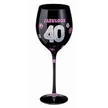 Birthday Wine Glass (40th)