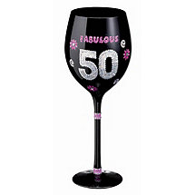 Birthday Wine Glass (50th)