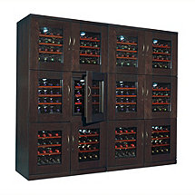 Trilogy Quad Wine Cellar (Espresso)