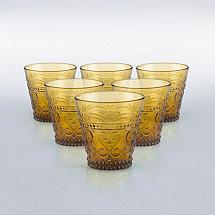 Italian Provenzale Amber Tumblers (Set of 6)