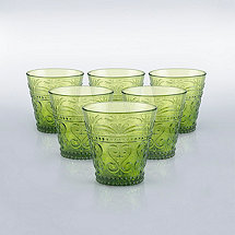 Italian Provenzale Green Tumblers (Set of 6)