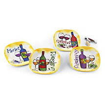 Varietal Melamine Appetizer Plates (Set of 4)
