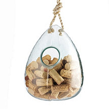 Recycled Glass Hanging Cork Catcher