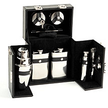 Bey-Berk 10 Piece Travel Bar Set