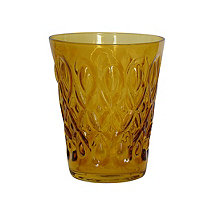 Teardrop Juice Glass (Amber) (Set of 4)