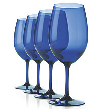 Indoor / Outdoor Cobalt Blue Wine Glasses (Set of 4)