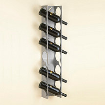 LDV 6 Bottle Raw Steel Wine Rack