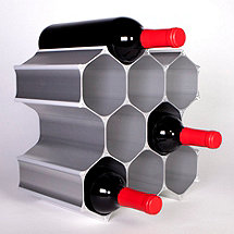 WineHive 10-Bottle Modular Wine Rack