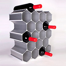 WineHive 21-Bottle Modular Wine Rack