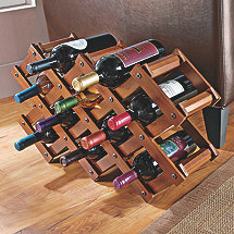 Accordion Wooden Wine Rack