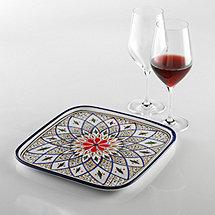 Tabarka Design 12 Inch Square Platter
