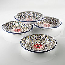 Tabarka Design Round Tagine Bowls (Set of 4)