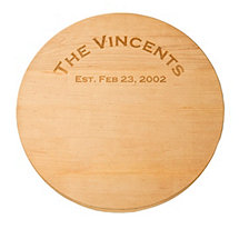 Personalized Maple Lazy Susan with Rounded Edge(18 inches)