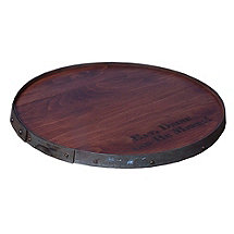 Personalized Ring Top Barrelhead Lazy Susan