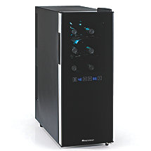 Wine Enthusiast Silent 12 Bottle Dual Zone Touchscreen Wine Refrigerator Slimline Edition