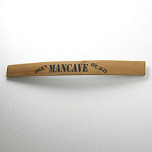 Personalized Barrel Stave Man Cave Sign