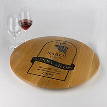 Personalized Wine Label Lazy Susan