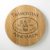 Authentic Barrel Head Wall Plaque Personalized with Chianti