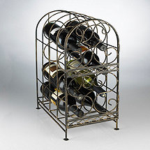 Antique Bronze 8 Bottle Wine Jail
