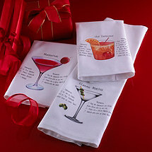 Cocktail Recipe Bar Towels (Set of 3)