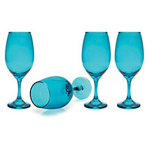 Moonlight Blue Wine Glasses (Set of 4)