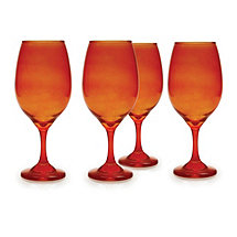 Moonlight Orange Wine Glasses (Set of 4)