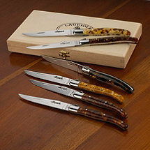 Jean Dubost Laguiole 6-Piece Steak Knives (Tortoise Shell Acrylic)