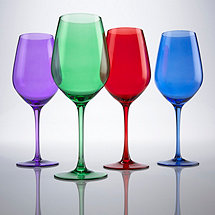Jewel Toned Wine Glasses (Set of 4)