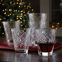 Diamante Italian Wine Tumblers (Set of 6)