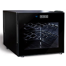 Wine Enthusiast Silent 12 Bottle Single Zone Touchscreen Wine Refrigerator
