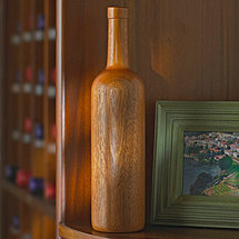 Wooden Wine Bottle Bordeaux (Finished)