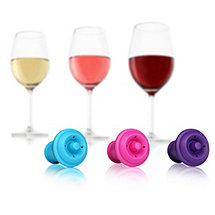 Vacu Vin Wine Saver Stoppers Colored (Set of 3)