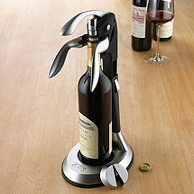 Monogrammed QuickSilver Tower Deluxe Corkscrew Set