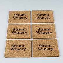 Personalized Cork Coasters (Set of 6)