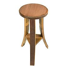 Reclaimed Wine Barrel Triple Stave Stool