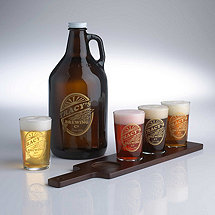 Personalized Brewing Co. Beer  Growler & Flight Glasses Set