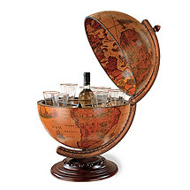 Antique Tabletop Globe Bar