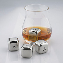 Personalized SPARQ Stainless Steel Whiskey Cubes (Set of 4)