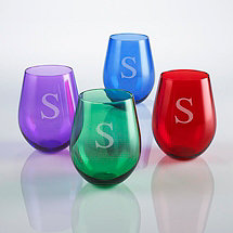 Personalized Jewel Toned Tumblers (Set of 4)
