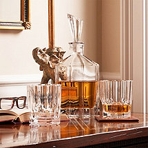 Nachtmann Aspen Decanter with 2 Whiskey Tumbler Set