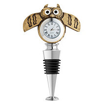 Owl Clock Wine Stopper