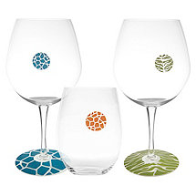 Tiger & Giraffe WineWrapps and DrinkDotz Glass Identifiers