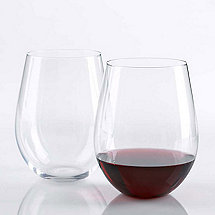 Wine Enthusiast U Cabernet Stemless Wine Glasses (Set