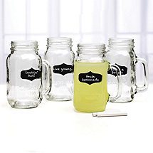 Chalkboard Note Mason Jars (Set of 4)